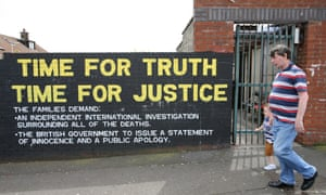 Murals dedicated to the 1971 Ballymurphy massacre