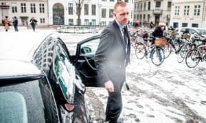 Prosecutor Jakob Buch-Jepsen arrives at court in Copenhagen.