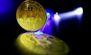 A digital representation of a Bitcoin.