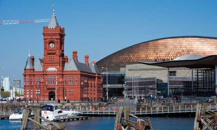 Pierhead building & Millennium Centre, Cardiff Bay, Wales, UK.