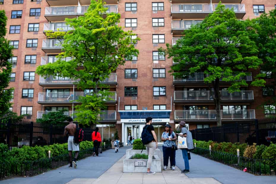 The Atlantic Plaza Towers apartments complex in Brooklyn, New York where 130 tenants have complained about a plan to use facial recognition technology