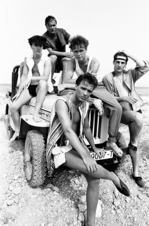 Beach chic in Ibiza in 1981 where the band played at the KU Club and picked up suntans for their HMS Belfast gig back in London.
