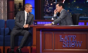 The Late Show with Stephen Colbert is just one of the late night hosts Noah will be taking on.