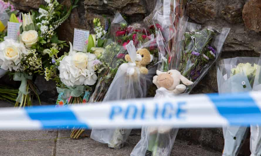 Tributes left to victims of Thursday's attack.