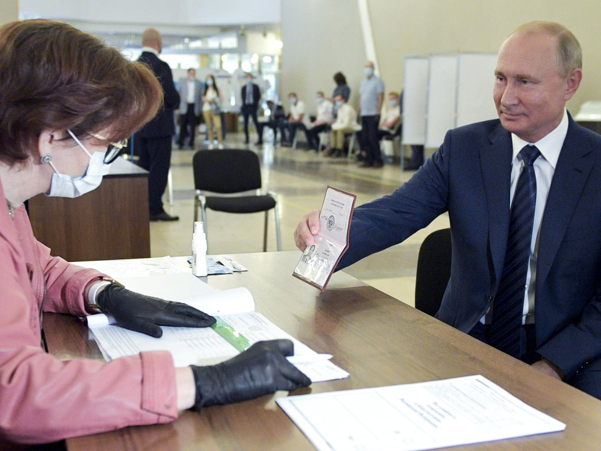 Critics Say Russian Vote That Could Allow Putin To Rule Until 2036 Was Rigged Russia The Guardian