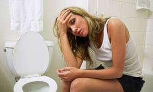Portrait of Woman by Toilet<br>AA1YPG Portrait of Woman by Toilet