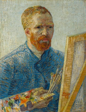 Vincent van Gogh's Self-Portrait as a Painter, 1887-88.