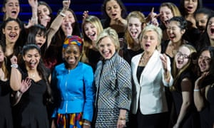 Hillary Clinton at the Women in the World Conference on 23 April 2015 in New York City.