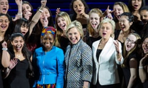 On song: Tina Brown with Hillary Clinton at a Women In The World summit held In New York.