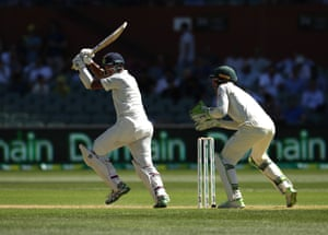 Cheteshwar Pujara was the standout batsman on day of the first Test at Adelaide Oval.