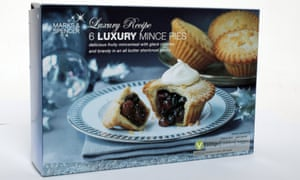 Marks and Spencer luxury mince pies in a box