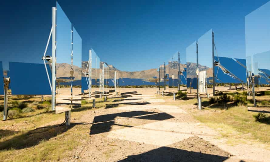 Heliostats at the Ivanpah solar thermal power plant in California's Mojave Desert.