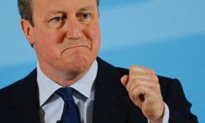 David Cameron speaking at the World Economic Forum