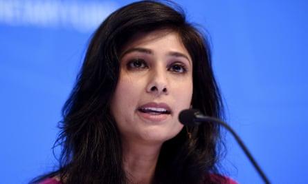 Gita Gopinath, the IMF's economic counsellor