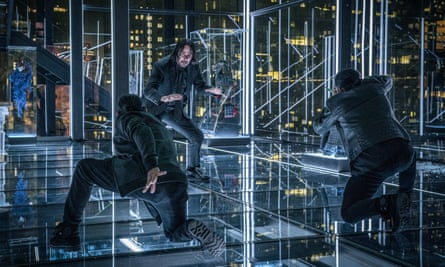 Keanu Reeves, centre, in John Wick: Chapter 3 – Parabellum.