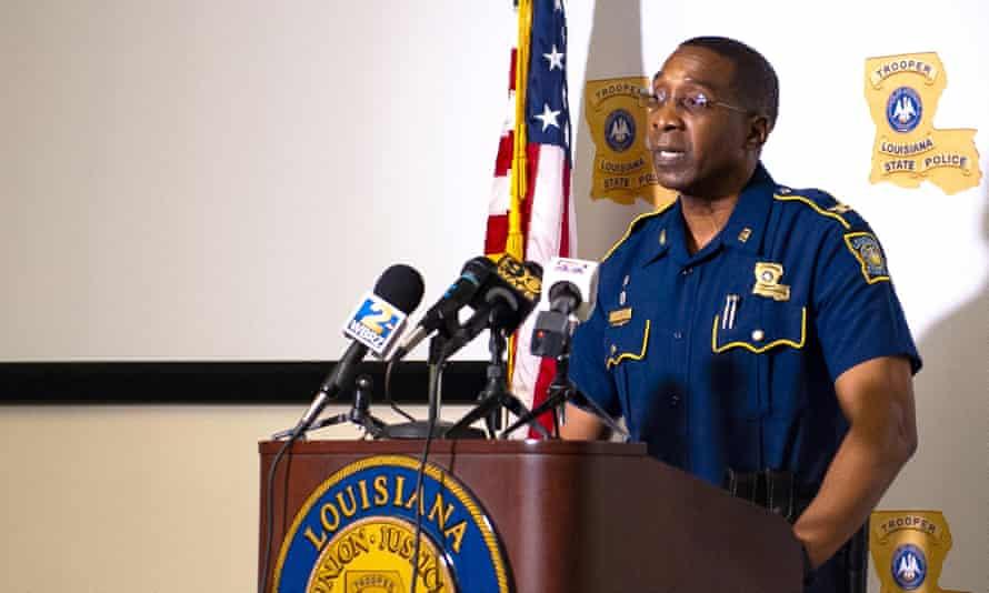 Police superintendent Lamar Davis at a press briefing on Friday.