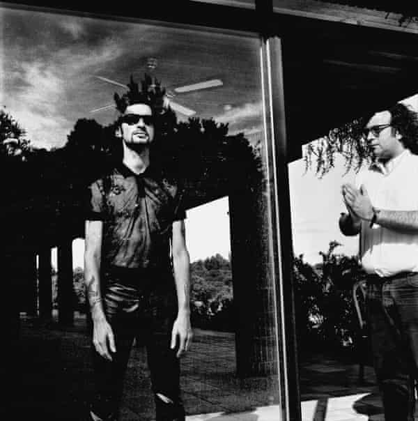 '[It's] as if he's praying for Dave' … Daniel Miller (right), and Dave Gahan.