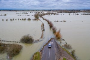 Flooding is at the highest level for the past ten years in Welney on the Norfolk/Cambridgeshire border