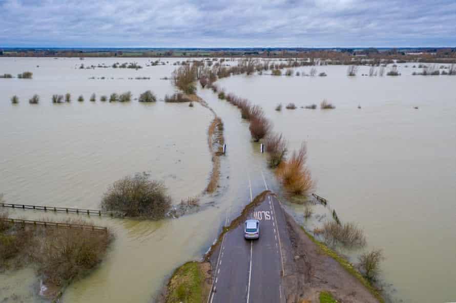 Flooding in Welney on the Norfolk/Cambridgeshire border.
