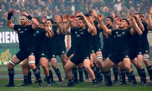 New Zealand's All Blacks perform the haka: four defeats in 18 months have seen them slip.