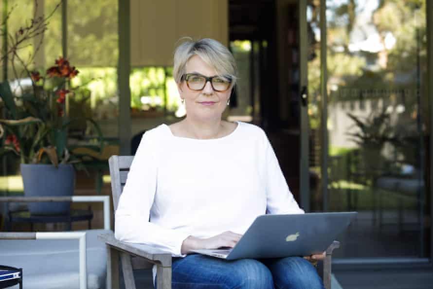 Tanya Plibersek working from her home during the coronavirus pandemic. Sydney, Australia.