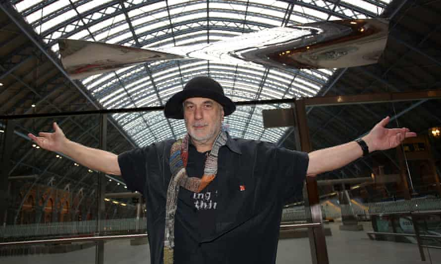 Ron Arad with Thought of Train of Thought at St Pancras station in London.
