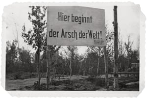 A sign pointing to the hardships of the Volkhov area in Russia