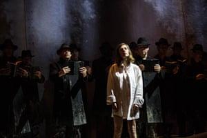 The Opera Philadelphia Chorus play the elders of Bess's strict Calvinist church.