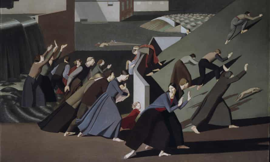 'A kind of hectic cinema in the long shadows and violent geometry': Winifred Knights's The Deluge (detail) (1920), for which she won the Prix de Rome