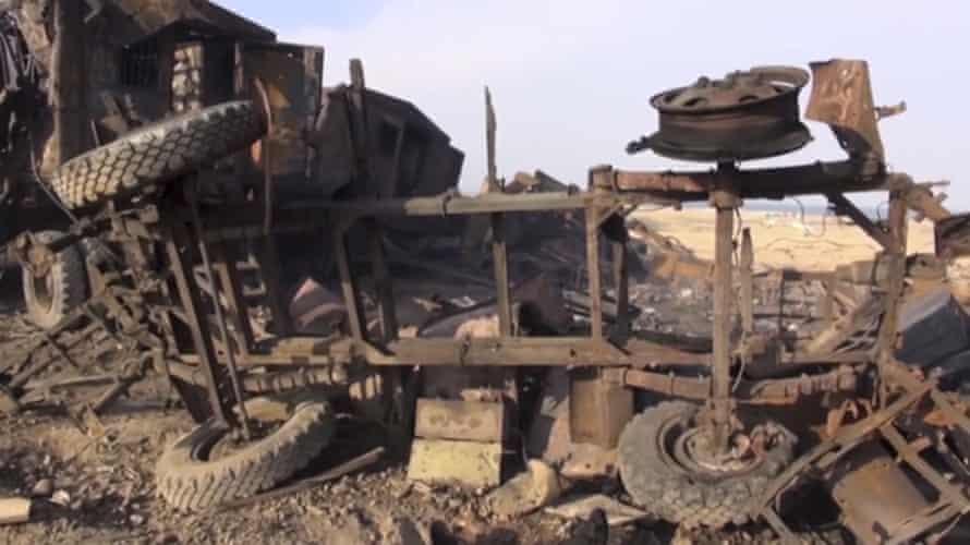 A radar site in Al Hudaydah after the US missile attack.