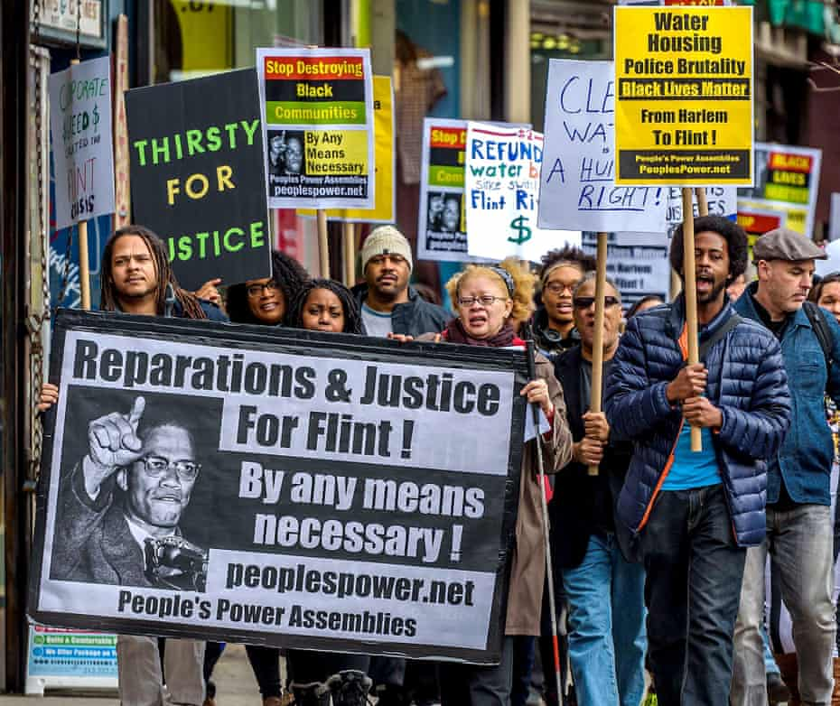 protest for flint