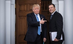 Donald Trump with Kris Kobach. Trump's election integrity commission has been criticized as 'a fraud'.