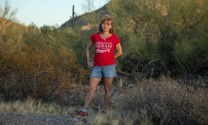 Christine Marsh, an educator and candidate for Arizona state senate, in the Phoenix Mountain preserve.