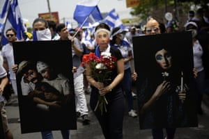 Thousands participate in the March of the Flowers in Managua, Nicaragua