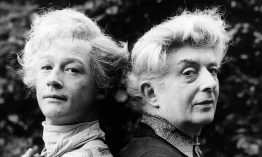 John Hurt, left, with Quentin Crisp, whom he played in The Naked Civil Servant. The drama was voted fourth favourite in a survey by the British Film Institute in 2000.