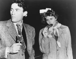 On the set of Spellbound in Hollywood with Gregory Peck during a break in shooting, 1944. Photograph: Private Collection