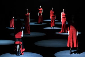 Beijing, ChinaModels walk the runway during the Hontale & M.oro cashmere collection show during China Fashion Week