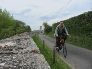Dixe explores the Normandy countryside on his electric bike