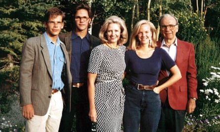Lachlan, James, Anna, Elisabeth and Rupert Murdoch in The Rise of the Murdoch Dynasty.