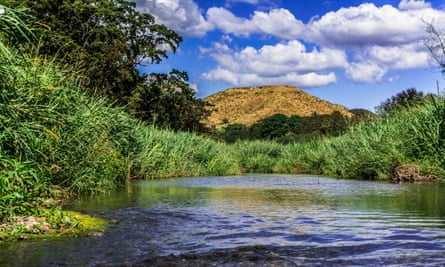 The River Coamo that flows from the mountains past the hot springs.
