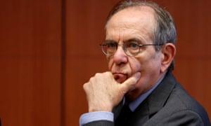 Italy's finance minister Pier Carlo Padoan