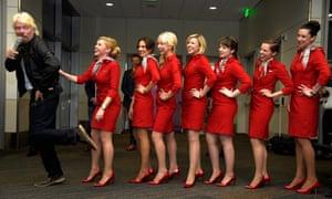 Richard Branson launches Virgin America's San Francisco to Denver service