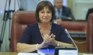 Ukraine's finance minister, Natalia Yaresko