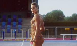 Alysha Newman, Olympian and Commonwealth Games champion models for Agent Provocateur.