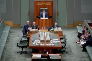 Deputy speaker Llew O'Brien in the chair after question time in the house of representatives in Parliament House
