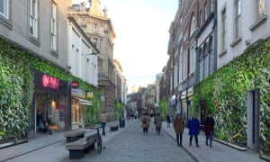Lucy Dunhill's artwork showing how Whitefriargate in Hull, which is blighted by empty shops, might look.