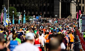 London marathon runners in 2014. The Sunday Times doping claims relate to races from 2001 to 2012.