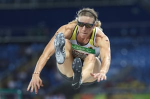 Katrin Mueller-Rottgardt of Germany competes in the women's long jump T12 final