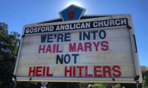 Protestors entered Gosford Anglican church and disrupted a mass.