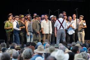 Dustyesky, a 28-man choir from Mullumbimby, perform Russian folk songs.